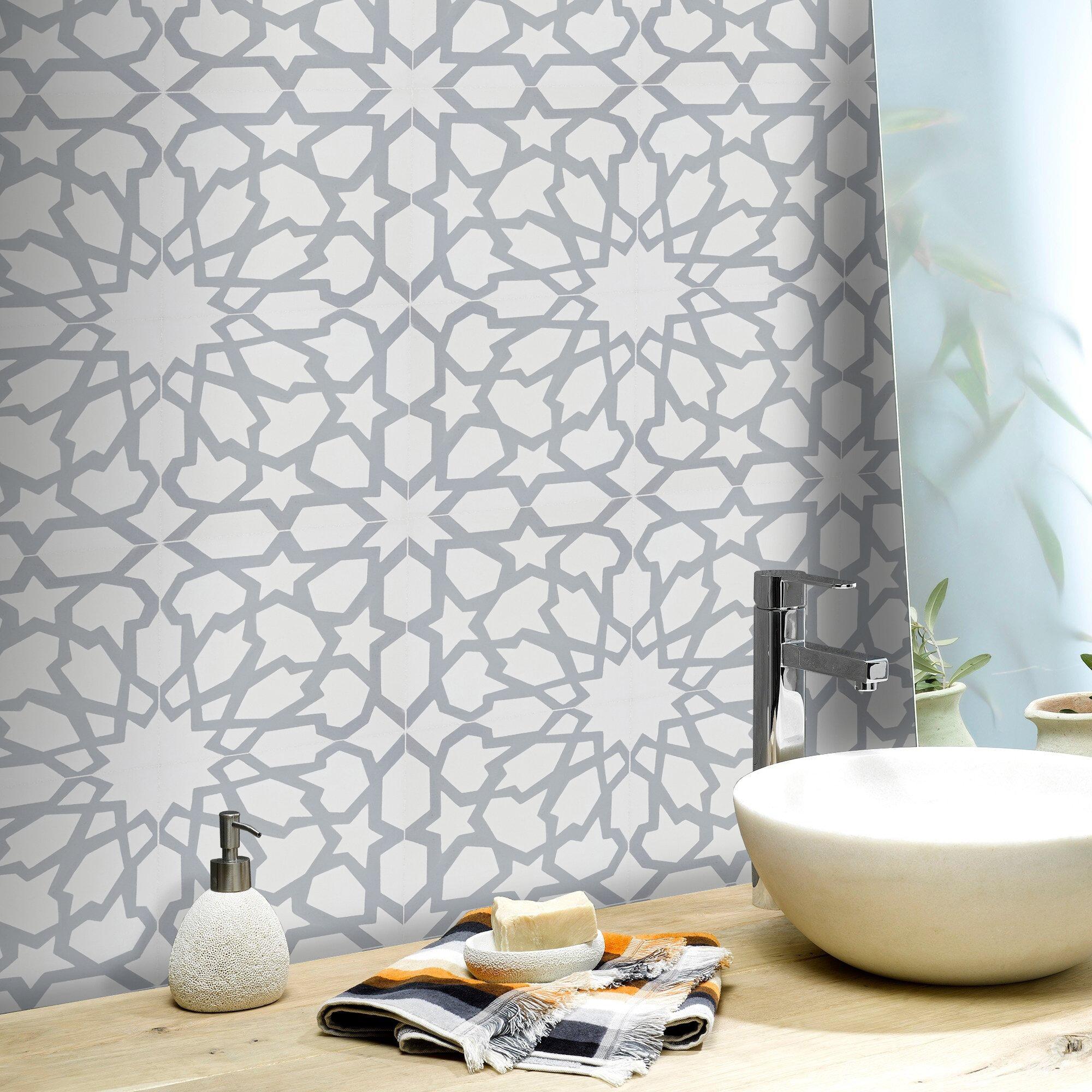 Moroccan Mosaic Tile House Bahja 8 X 8 Cement Field Tile Wayfair