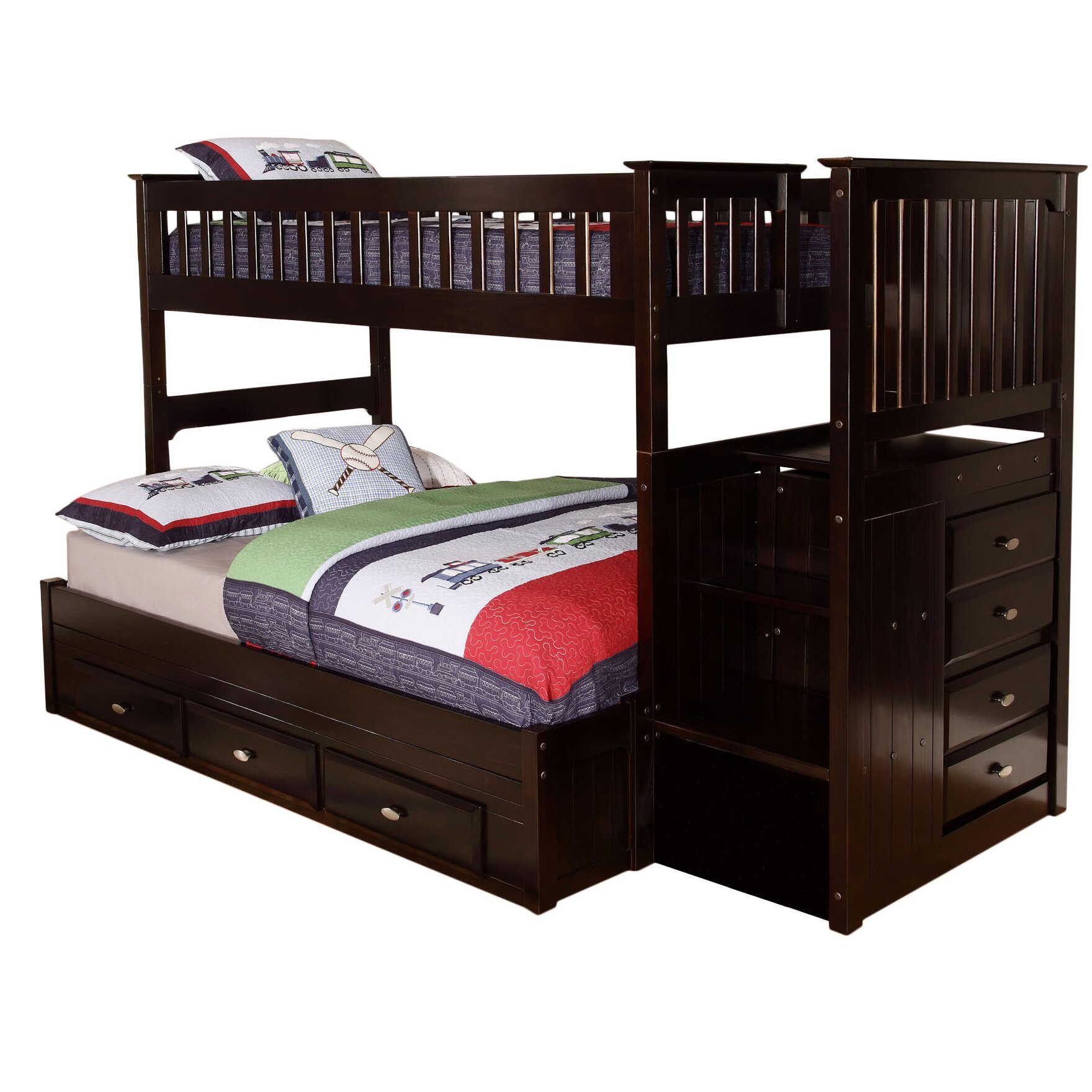 Bunk Bed Viv Rae Kaitlyn Twin Over Full Bunk Bed Reviews Wayfair Supply