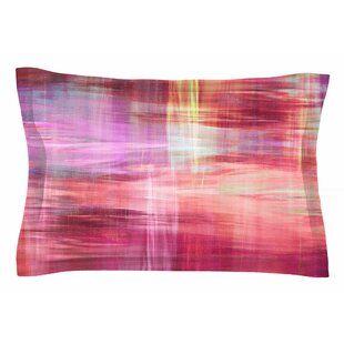 Ebi Emporium 'Blurry Vision 4, Pink' Painting Sham