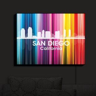 East Urban Home City II San Diego California' Print on Fabric