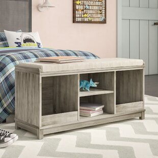 Kronqui Four-Cubby Upholstered Storage Bench