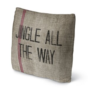 Jingle All the Way Throw Pillow