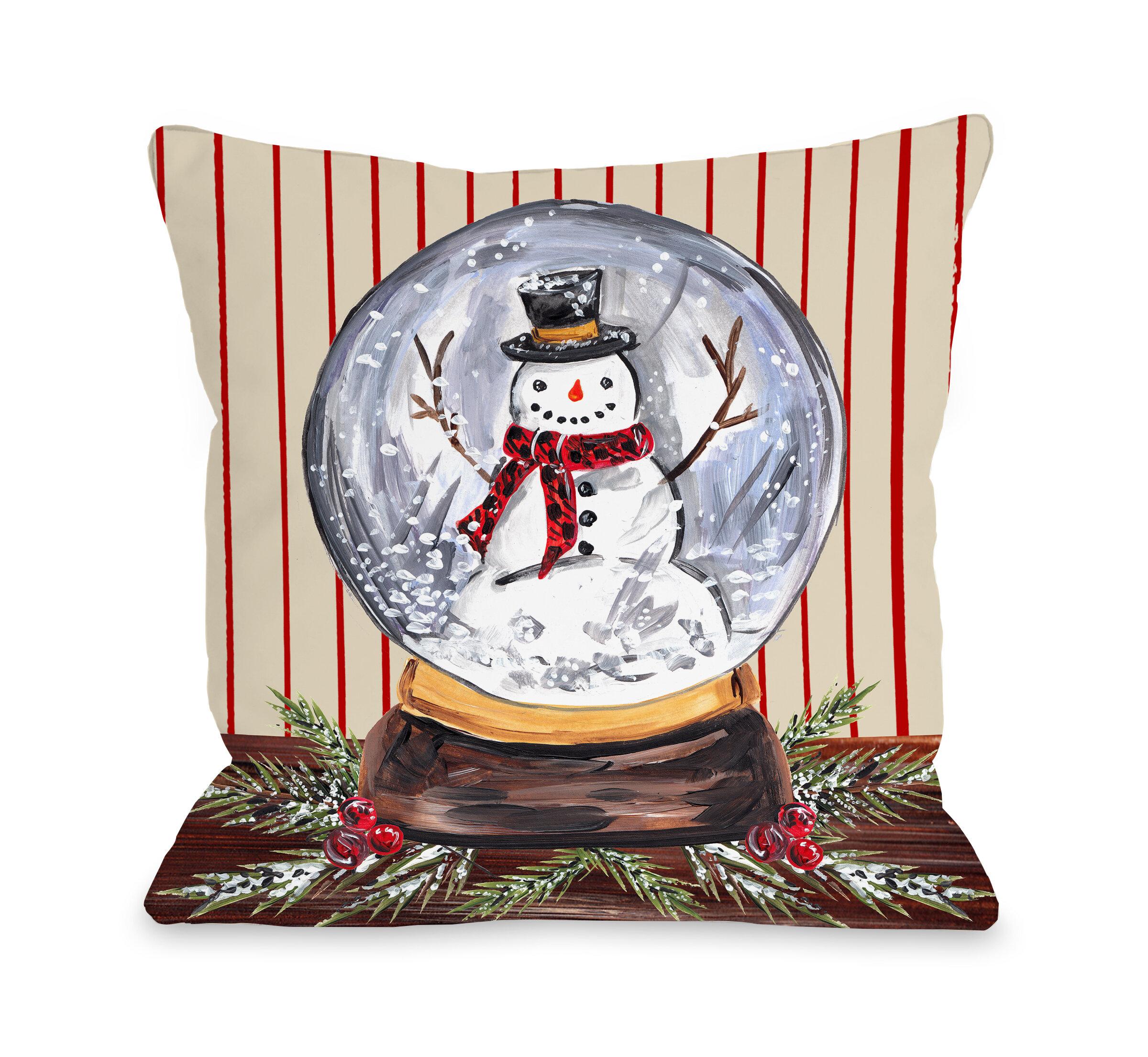 The Holiday Aisle Jamari Snowglobe Throw Pillow Wayfair