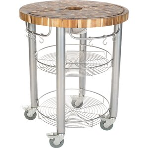 Pro Stadium Kitchen Cart with Butcher Block Top by Chris & Chris