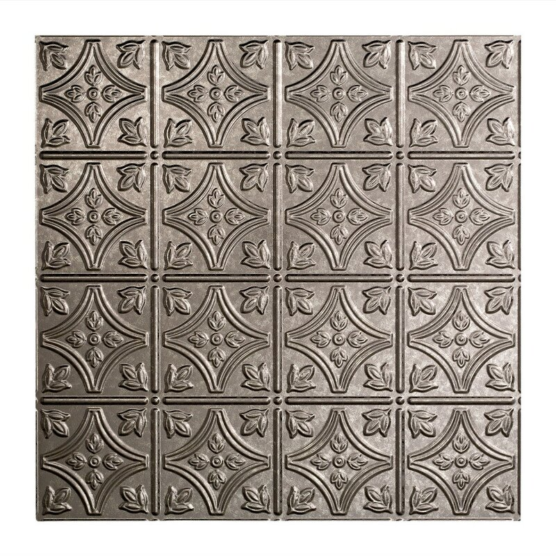 Fasade Traditional Ft X Ft LayIn Ceiling Tile In Galvanized - 1 x 2 ceiling tiles