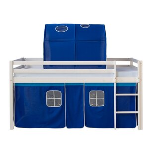 Amelia European Single Mid Sleeper Bed With Textil Set By Zoomie Kids