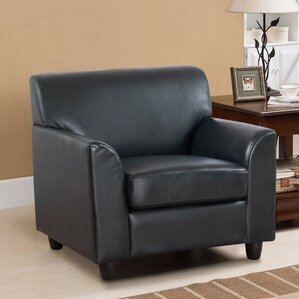 Matheney PU Leather Armchair by Alcott Hill