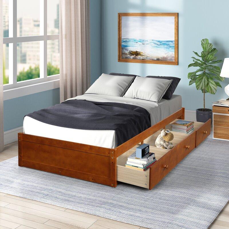 Winston Porter Sonntag Storage Platform Bed Wayfair