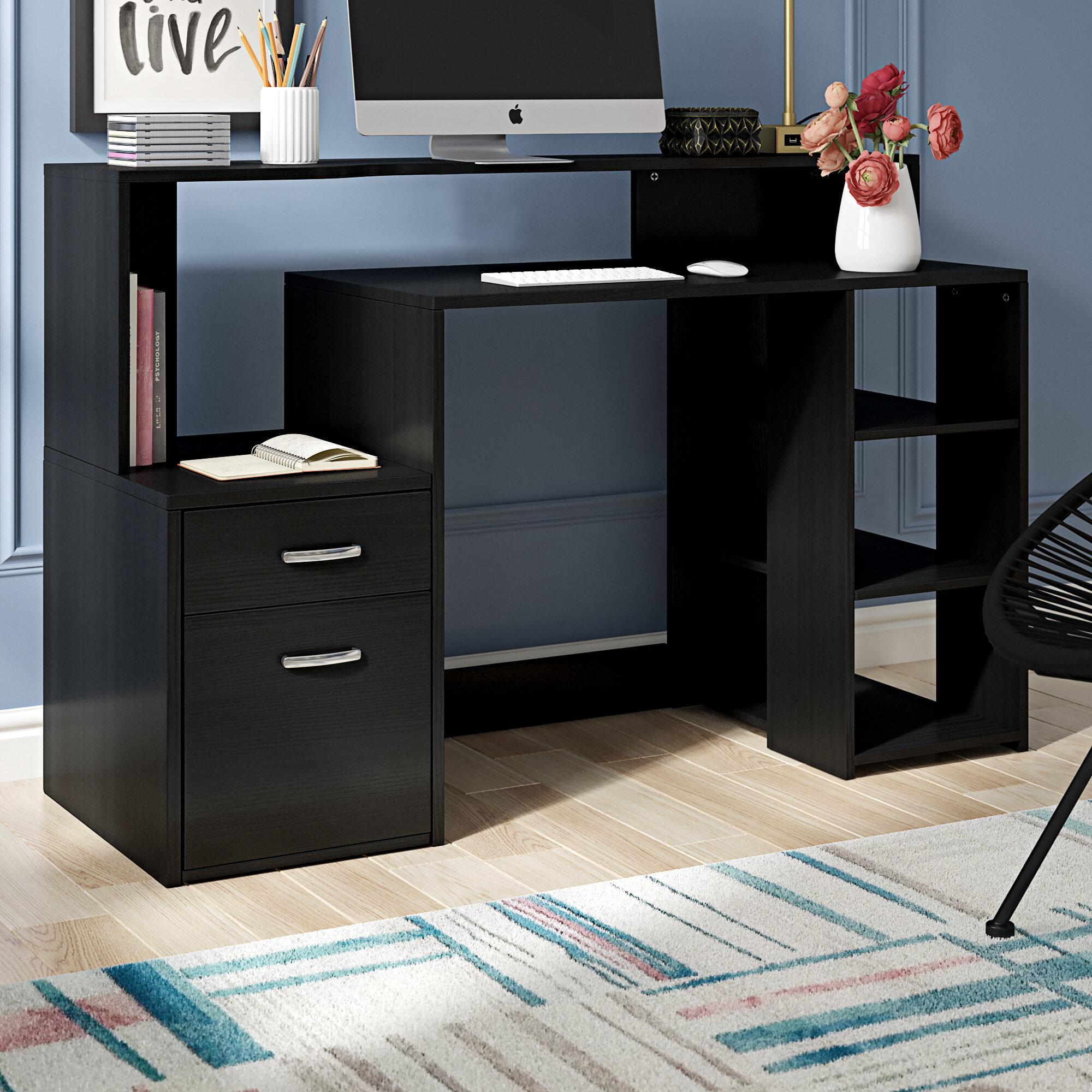 - Ebern Designs Ludwig Modern Desk & Reviews Wayfair