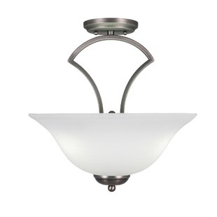 Couto 3-Light Semi-Flush Mount by Red Barrel Studio