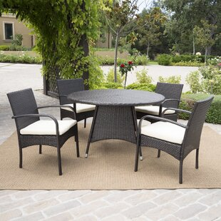 Alden 5 Piece Outdoor Dining Set