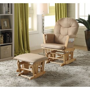 Crichton 2 Piece Glider and Ottoman by Harriet Bee