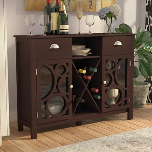 Andover Mills Strome Wood 16 Bottle Floor Bar with Wine Storage
