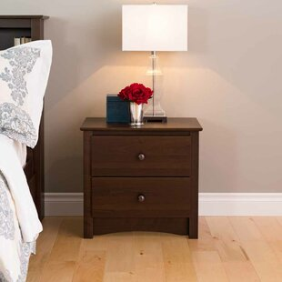 Latitude Run Adah 2 Drawer Nightstand