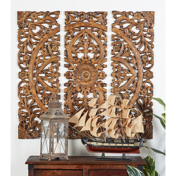 3 Piece Wood Panel Wall Décor Set