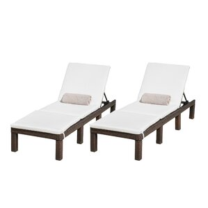 emelda chaise lounge with cushion set of 2