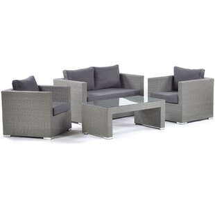 Ashong 4 Seater Rattan Sofa Set By Sol 72 Outdoor