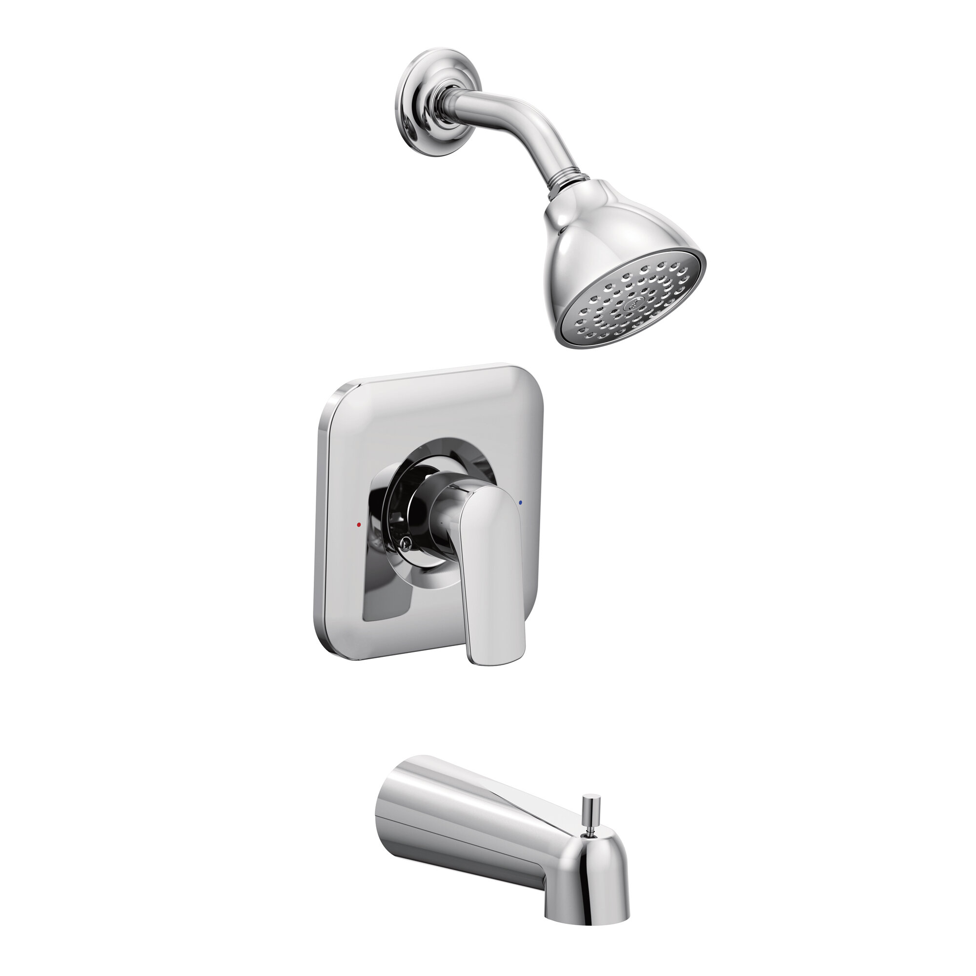 T2813 Moen Rizon Chrome Tub And Shower Faucet With Handle And Posi Temp Reviews Wayfair