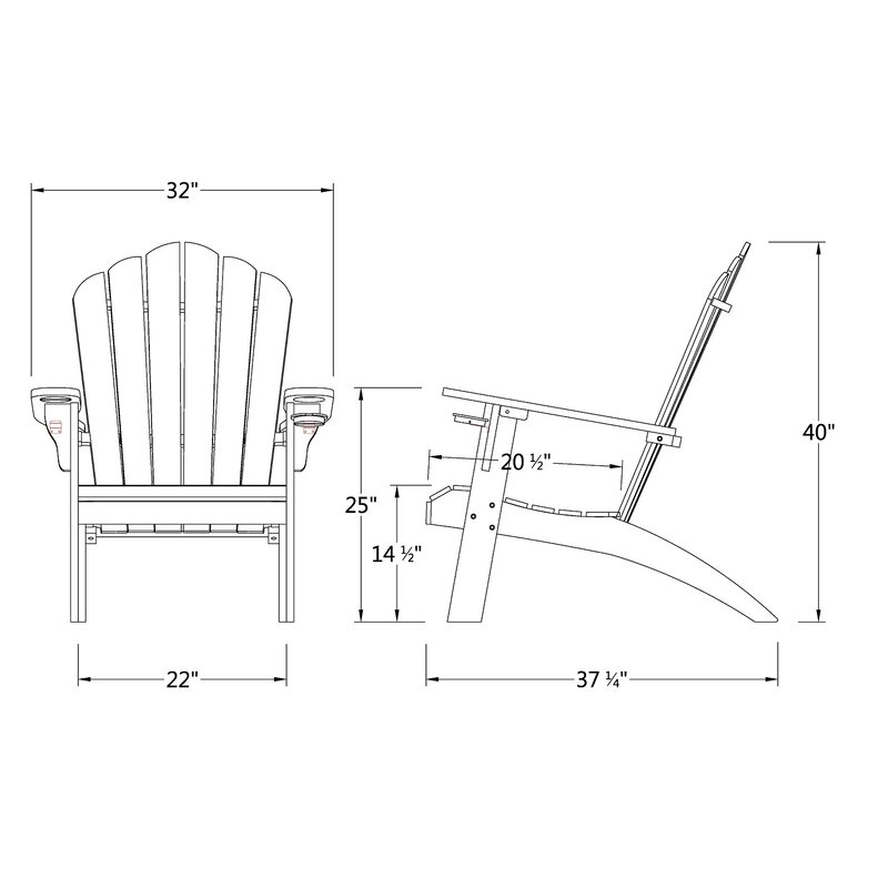 Magnificent Cynthia Teak Adirondack Chair With Cupholder Download Free Architecture Designs Pushbritishbridgeorg