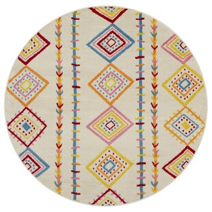 Roza Cream/Orange/Yellow Area Rug by Mack & Milo