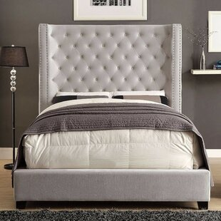 Canora Grey Dryden Flannelette Upholstered Panel Bed