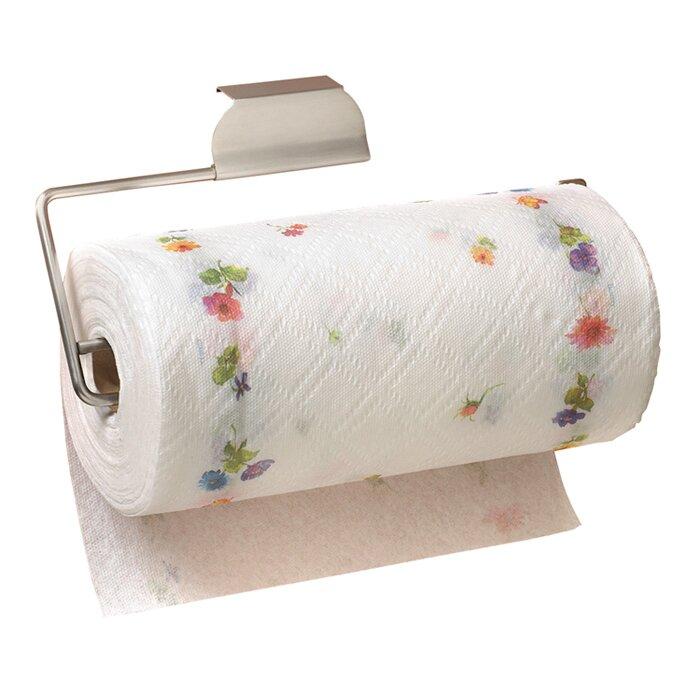 Over The Door Paper Towel Holder In Brushed Nickel