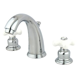 English Country Widespread Bathroom Faucet with Drain Assembly By Kingston Brass