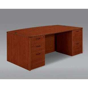 Fairplex Bow Front Executive Desk