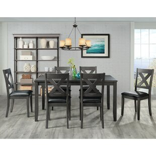 Colne 7 Piece Solid Wood Dining Set DarHome Co