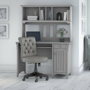 Broadview Desk with Hutch and Chair Set by Three Posts