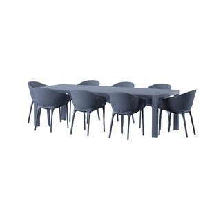 Remarkable Curnutt 9 Piece Dining Set Evergreenethics Interior Chair Design Evergreenethicsorg
