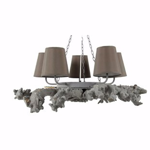 Bloomsbury Market Coulibaly Attractive 5-Light Shaded Chandelier