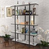 Briney 70 H x 35 W Metal Etagere Bookcase by Latitude Run®