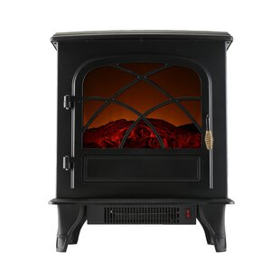 Portable Indoor Home Compact Electric Wood Stove Fireplace by Caesar Fireplace