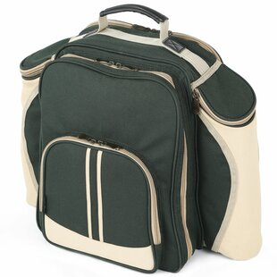 Deluxe Picnic Backpack Hamper For Four People By Sol 72 Outdoor