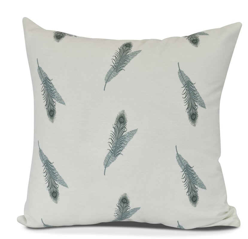 Arlo Feather Floral Throw Pillow