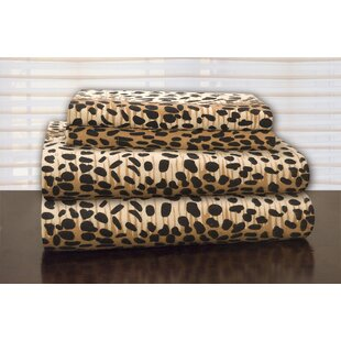 Heavy Weight Leopard Flannel Sheet Set