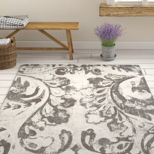 Pickrell Distressed Dark Brown/White Area Rug By One Allium Way