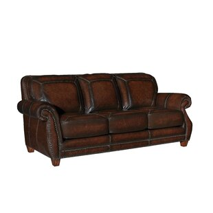 Shop Arredondo Leather Sofa by Loon Peak
