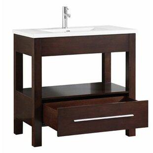 Cowart Vitreous China Top 37 Single Bathroom Vanity Set by Orren Ellis