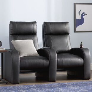 Modern Manual Rocker Recline Home Theater Row Seating (Row of 2) By Latitude Run