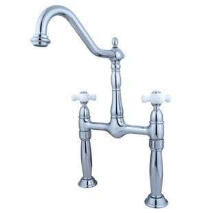 Elements of Design Victorian Widespread Vessel Sink Faucet with Double Porcelain Cross Handles