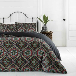 Dupree Ogee Reversible Duvet Cover Set