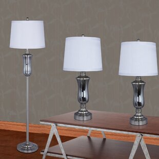 Lily 3 Piece Table and Floor Lamp Set
