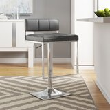 Braeden Swivel Adjustable Height Bar Stool by Wade Logan®