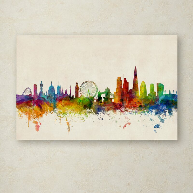 Trademark art london england skyline vii by michael tompsett london england skyline vii by michael tompsett graphic art on wrapped canvas gumiabroncs Image collections
