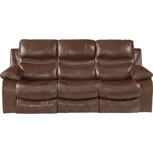 Shop Patton Leather Reclining Sofa by Catnapper