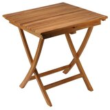 Lulie Folding Solid Wood Bistro Table