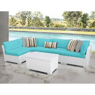 Monaco 6 Piece Sectional Seating Group with Cushions
