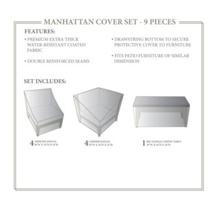 TK Classics Manhattan Winter 9 Piece Cove..